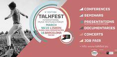 Talkfest'17, oradores e entidades que completam a programação do evento; night sessions  A 6ª edição do Talkfest'17 (9 e 10 mar - Lisboa) anuncia hoje os últimos nomes nacionais e internacionais para as diferentes seções do evento, totalizando assim mais de 90 pontos de programação que +info em http://wp.me/p5MaUC-5BB  #Aporfest #IberianFestivalAwards #Talkfest