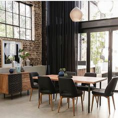 New York loft inspiration! Dine in style with our new arrival Myles dining table, Jarvis dining chairs + Myles buffet in black / natural. Now that's style to steal for your dining space ! #ozdesignfurniture #dining #newyorkloft #trend #interiors #diningspace #global #dine #interiordesign #styling #design #style #homedecor #design #furniture #L4L