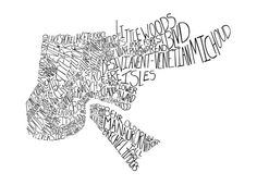 New Orleans Neighborhoods Text Graphic