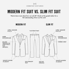 The modern fit #suit Vs the slim fit #suit.