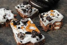 cookies 'n cream pretzel fudge