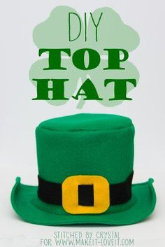 DIY Fabric Top Hat…with free pattern