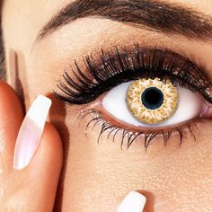 aricona N°292 - Farbige 12-Monats Kontaktlinsen Paar ohne Stärke, weich und angenehm zu tragen, Wassergehalt: 42%, Braun/Gelb: Amazon.de: Drogerie & Körperpflege
