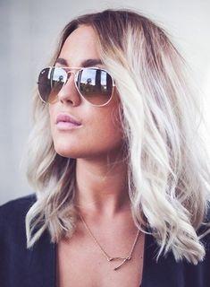 Gorgeous ash blonde platinum ombré