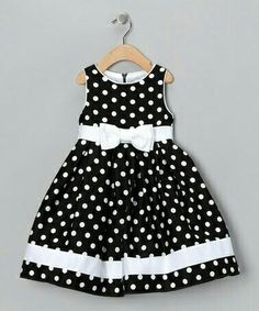 Take a look at this Black & White Dotty Dress - Infant, Toddler & Girls by Spring Soire: Girls' Dresses on today! sarahandava Take a look at this Black & White Dotty Dress - Infant, Toddler & Girls by Spring Soire: Girls' Dresses on today! Toddler Dress, Toddler Outfits, Baby Dress, Kids Outfits, Infant Toddler, Toddler Girls, Dot Dress, Baby Outfits, Little Dresses