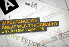 Typography is one of the visual elements that can be used to create great web design. The importance of good web typography is proportionate to that of good web design. Magazine Design Inspiration, Best Web Design, Type 1, Typography, Coding, Newspaper, Apps, Internet, Website