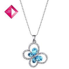 Aliexpress.com : Buy Free Shipping (No Min Order) Neoglory MADE WITH SWAROVSKI ELEMENTS Crystal Jewelry Butterfly Necklace for Female Long Necklaces from Reliable butterfly necklace suppliers on NEOGLORY JEWELRY