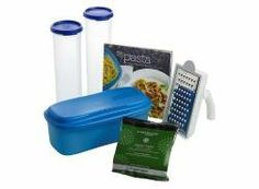 Tupperware Pasta Lovers Gift Set by Tupperware. $98.99. Includes Tupperware® Microwave Pasta Maker. Includes Simple IndulgenceTM Italian Seasoning Blend. Includes Grate 'N Measure® Grater. Includes 25 Pasta Creations Recipe Book. Includes 2 Spaghetti Dispensers. Please your favorite pasta proponent with this collection designed for crafting delicious homemade meals quickly and easily. With pasta stored, delicious recipes, seasoning, and fresh grated cheese on hand, and the ...