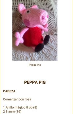 Los Amigus de Paloma: Peppa Pig Amigurumi (Patrón Gratis) Peppa Pig Crochet, Peppa Pig Amigurumi, Amigurumi Toys, Pepps Pig, Crochet Animals, Crochet Toys, New Toys, Crochet Projects, Hello Kitty