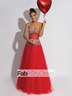 A-line Sweetheart  Beading  Sleeveless Floor-length Tulle  Prom Dresses / Evening Dresses