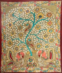 A traditional Indian mithila painting to create varieties of colours and patterns that fit nicely with Persephone #HOHSOS