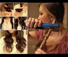 To get simple, laidback waves, twist sections your hair and then run a hair straightener down the sections. 36 Awesome Hair Hacks For Every Type Of Hair Easy Curled Hairstyles, Diy Hairstyles, Coiffure Hair, Tips Belleza, Great Hair, Awesome Hair, Hair Dos, Hair Inspiration, Curly Hair Styles