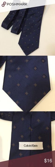Calvin Klein tie Calvin Klein silk tie. Navy blue color. Calvin Klein Accessories Ties