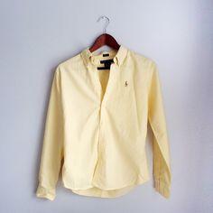 Ralph Lauren Button-up Yellow ralph lauren button up. Very good condition. Slim fit size 8 Ralph Lauren Tops Button Down Shirts