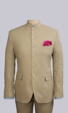 The Linen Bandhgala blazer Mens Indian Wear, Indian Groom Wear, Indian Men Fashion, Wedding Dresses Men Indian, Wedding Dress Men, Wedding Suits, Nehru Jacket For Men, Nehru Jackets, Designer Suits For Men