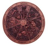 Wheel Of The Year Plaque-Sabbat Plaque For Your Home, Altar  Sacred Space - Eartisans Wiccan & Pagan Products