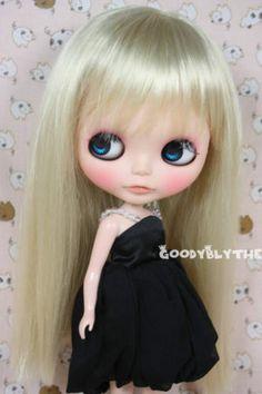 "Goodyblythe Hair Wig for 12"" Blythe Blond Straight W104 | eBay"