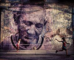Street Art: Quand deux artistes fusionnent leur art: JR et José Parlà