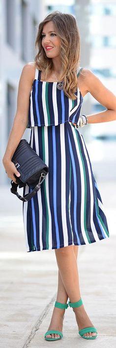 Itaca Striped Dress / Fashion by Mi Adventura Con La Moda