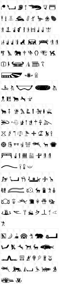 Old Egypt Glyphs