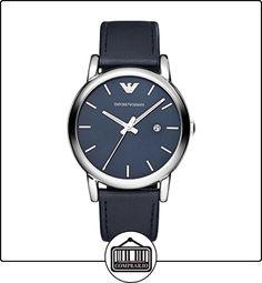 032944ae7b8 Emporio Armani AR1731 - Reloj de cuarzo con correa de cuero para hombre