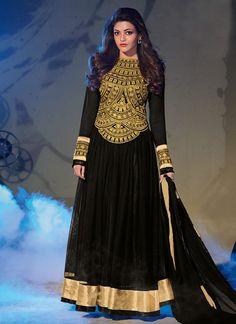 Black Kajal Agarwal Ankle Length Anarkali