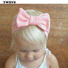 TWDVS Baby Cotton Knot Elasticity Headband baby girls wide Knot hair band  Kids Hair Accessories -- This is an AliExpress affiliate pin. 37b6e0350a1f
