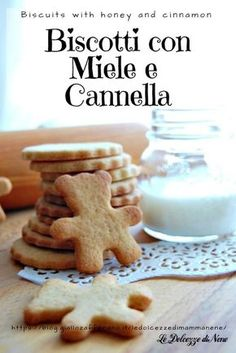 BISCOTTI MIELE E CANNELLA - Biscuits with honey and cinnamon - buonissimi nel latte e non solo! Perfetti da regalare anche a natale #biscotti #biscuits #miele #honey #cannella #cinnamon #colazione #merenda #bimby #thermomix #natale #biscottipernatale #Christmas #regalo #biscottidaregalare #presentforyou Bakery Recipes, Dessert Recipes, Patisserie Fine, Ginger Bread Cookies Recipe, Honey Cookies, Biscotti Cookies, Sweet Pastries, Italian Cookies, Xmas Food