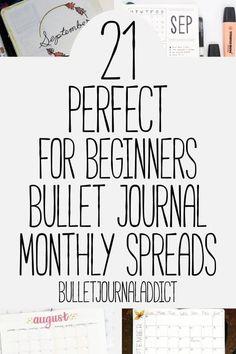 Bullet Journal Addict – 21 Easy Bullet Journal Monthly Spreads Bullet Journal Monthly Spreads For Beginners – Simple Bullet Journal Monthly Spreads – Minimalist Bullet Journal – 21 Perfect For Beginners Bullet Journal Monthly Spreads