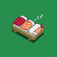 Durmiendo sushiesta.