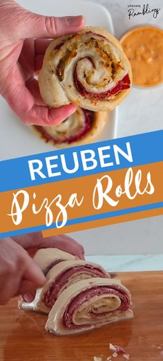 These Reuben Pizza Rolls are a quick and easy Irish inspired recipe in which corned beef, Swiss cheese and sauerkraut are rolled up inside pizza dough for a St. Patrick's Day twist! This simple five ingredient recipe is ready to eat in less than 30 minutes.
