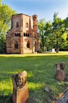 Mettlach Abbey in Mettlach, Merzig-Wadern, Saarland, Germany.  Leudwinus (d. 722), Mike's 39th gg, is buried  here.
