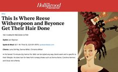 We pride ourselves on WHAT we do not WHO we do, but thank you THR for including us among the best hair salons in LA! Best Hair Salon, Salon Business, Hair Salons, Christina Milian, Sienna Miller, The Hollywood Reporter, Reese Witherspoon, Beyonce, Pride