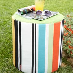 Olivan Stripe Pouf by Missoni Home Collection