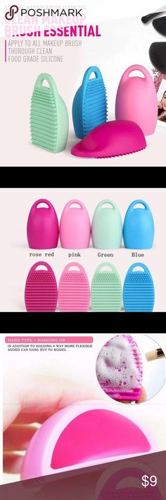 2x Cleaning Makeup Brush Tool You can mix  colors if you want or random color will be shipped.  Specifications; Material : Silicone Color : Pink, Green, rose red, Blue Size : 8x5.5x3cm 100% brand new and high quality This makeup brush cleaner will help thoroughly clean all the bristles and keep your brushes clean. The small knobs on the top are used for foaming and lathering. The grooves in the bottom of the egg helps to agitate the bristles.   Package includes: 2pcs Makeup Brush Cleaner…