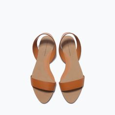 ZARA - SHOES & BAGS - FLAT LEATHER SANDALS