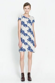 Zara Asymmetric Printed Dress, $29.99, available at Zara.