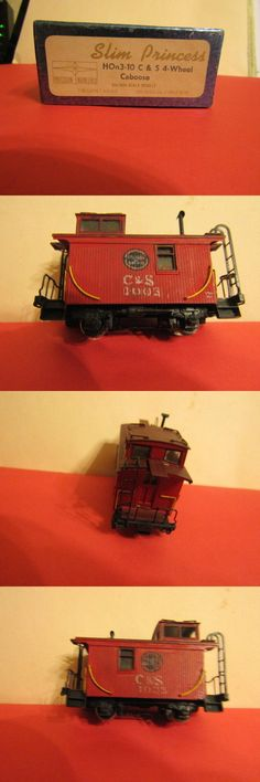 Other Narrow Gauge 9037: Hon3 Slim Princess Cands 4- Wheel Caboose By Balboa Scale Models, Painted -> BUY IT NOW ONLY: $75 on eBay!