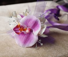 Items similar to Orchid Flower Girl Wedding Princess Wand - Costumes and Parties! Your Choice of Accent Color and Details on Etsy Tulle Decorations, Princess Wands, Orchid Color, Baby Pearls, Ribbon Colors, Lily Of The Valley, Princess Wedding, Accent Colors, Red And Pink