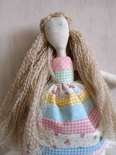 Princess+and+the+pea+handmade+rag+doll+by+littleloomers+on+Etsy,+$30.00 cute concept on dress