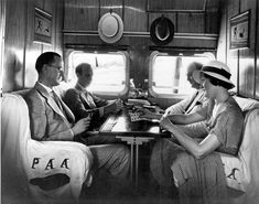 Traveling stylishly in a Pan Am Clipper - These days traveling by air is like a bus trip, just faster.