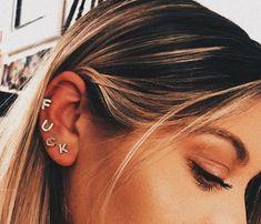 Ear Cuff, ruby, amethyst, Fake Piercing Earrings Cartilage Earring Chain Earrings Cuff no piercing Cartilage Piercing Ear Cuff Fairy Cuff - Custom Jewelry Ideas Piercing Face, Pretty Ear Piercings, Ear Peircings, Body Piercings, Tongue Piercings, Unique Piercings, Bellybutton Piercings, Piercing Tattoo, Cartilage Earrings