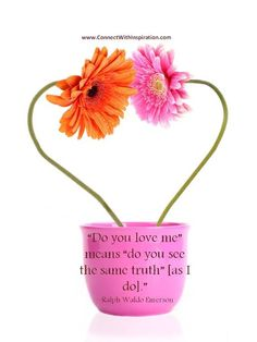 """Do You Love Me Means! Do you love me"""" means """"do you see the same truth"""" [as I do]. Valentine's Day Quotes, Love Quotes, Ralph Waldo Emerson, Inspirational Quotes About Love, I Love You, Valentines Day, Qoutes Of Love, Valentine's Day Diy, Quotes Love"""