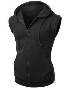 62f9737595b55 Amazon.com  Xpril men s cotton Zip up hoodie Vest  Clothing
