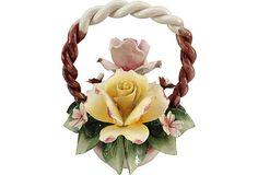 "Capodimonte Flower Basket   Italy  8.5""W x 10""H  ($249.00)   $135.00  OneKingsLane.com"