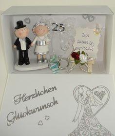 Geldgeschenk+zur+Silberhochzeit+von+A+-Z+Bastelshop+auf+DaWanda.com