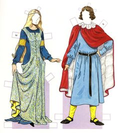 MEDIEVAL PERIOD 1200 - 1350   COSTUMES  by Tom Tierney