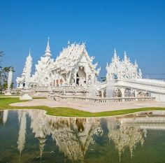 Wat Rong Khun, Otherwise known as the White Temple in Chiang Rai, Northern Thailand. Photo by andrewpateras (Instagram)