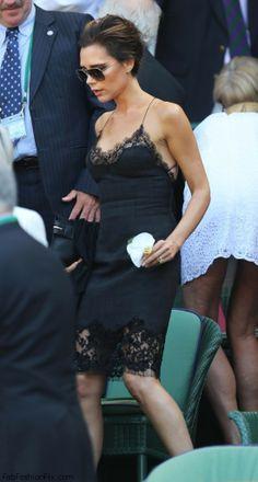 Victoria Beckham in Louis Vuitton dress