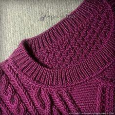 Вязаный свитер. Обвязка горловины
